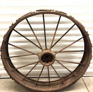 Antique C Late 19th Century Tractor Large Steel wheel Spoke Rim unique rare