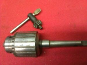Atlas Craftsman 6 101 Lathe Jacobs 32 3 8 3 Jaw Drill Chuck With 1mt Arbor Key