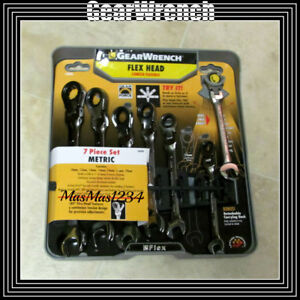Gearwrench Flex Head Ratcheting Wrench Set 7 Piece Metric 44006 Fast Shipping