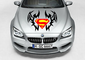 Tribal Superman Logo Decal Vinyl Graphic Hood Side Car Truck