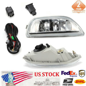 One Set Of Fog Lights Front Bumper Driving Lamp For 2001 2002 Toyota Corolla New