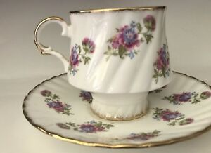 Vintage Teacup Saucer Elizabethan Fine Bone China Floral Design