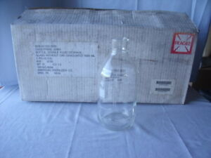 10 New Amsco Autopour 1000ml Glass Reagent Graduated Flasks Bottles Nc608 Lab