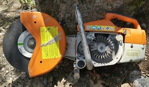 Stihl Ts 400 Concrete Saw For Parts Or Repair Incomplete Not Running As Is