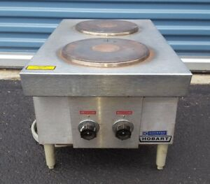 Hobart Countertop Electric Two Burner Range Commercial Stainless Steel