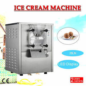1 Flavor Commercial Frozen Hard Ice Cream Machine Maker 20l h Stainless Steel
