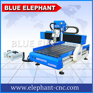 Blue Elephant Mini Cnc Router 6090 Advertising Woodworking Machinery For Acrylic