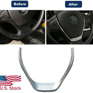 Glossy Chrome Silver Steering Wheel Cover Trim For Bmw F30 F31 F32 F33 3 Series