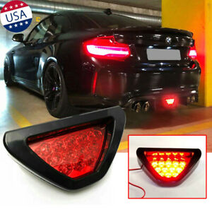 F1 Style Triangle Red 12 Led 3rd Rear Bumper Tail Stop Strobe Light Universal