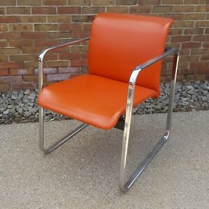 Vintage Mid Century Herman Miller Chrome Office Chairs 14 By Peter Protzman