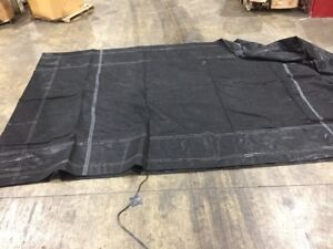 Black Mesh Tarp Trailer Bed Roll Off Cover 52 6 X 21