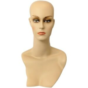 Mn 411 Female Display Mannequin Head Form With Stylish Neck And Shoulder