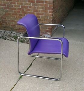 Vintage Mid Century Herman Miller Chrome Office Chairs 7 By Peter Protzman