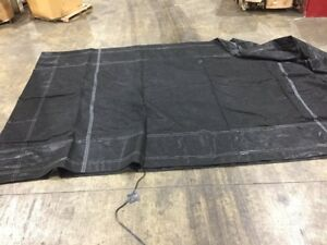 Black Mesh Tarp Trailer Bed Roll Off Cover 48 X 21