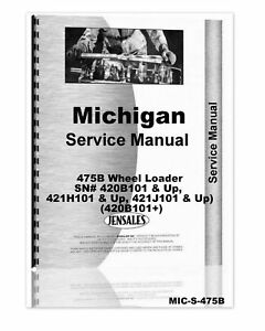Michigan 475b Wheel Loader Chassis Only Service Manual