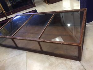 Lot Of 3 Antique Show Case Curio Jewelry Display Case Glass And Wood