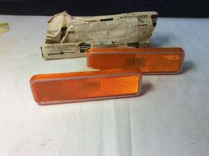 1972 1973 1974 Cuda Barracuda Challenger Side Marker Lights N O S Pair
