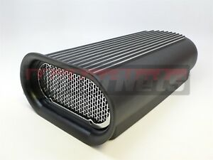 Black 4 Barrel Carb Hillborn Aluminum Hood Scoop Air Cleaner Blower Tunnel Ram