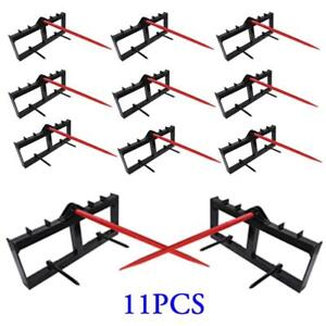 11pcs Tractor Hay Spear Attachment Fits John Deere 3000 Lb Capacity Front Loader