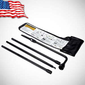 Spare Tire Lug Wrench Jack Tool Kit For Chevy Gmc Cadillac Pickup Truck Suv Us
