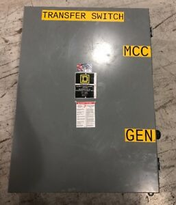 Square D Double Throw Safety Switch H82344 200 Amp 480 Volt Type 12