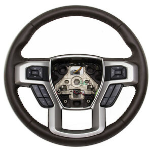 Oem New 17 18 Ford F150 King Ranch Leather Steering Wheel W Speed Control Java