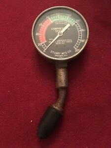 Vintage Engine Motor Compression Tester