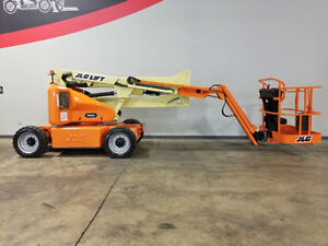 2003 Jlg E450aj 500lb Pneumatic Articulating Jib Boom Lift Electric Aerial Lift