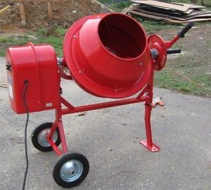 Portable Electric Concrete Mortar Stucco Cement 1 1 4 Cubic Ft Compact Mixer