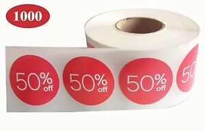 Sale Price Stickers Labels I 50 Percent Off Stickers For Retail Store Discount