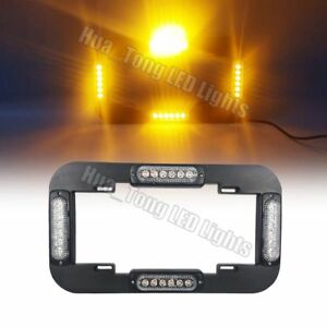 13 5 24w Led License Plate Lights Traffic Advisor Emergency Warn Amber Yellow