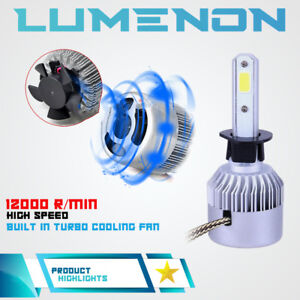 Lumenon 9006 Hb4 Led Headlight Bulb Kit Low Beam 6000k 90w 18000lm White Light