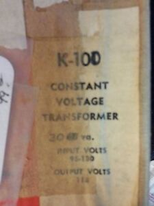Triad K 100 Constant Voltage Transformer