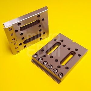 Wire Edm Fixture Board Stainless Jig Tool For Clamping Leveling 120x100x15 Mm