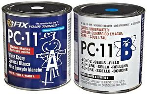 New 2 Pc11 Two part High tack Marine Grade Epoxy Adhesive Paste 8 Lb Free Ship