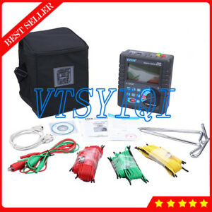 Digital Ground Earth Resistance Tester With Rs232 Interface 400 Datas Storage