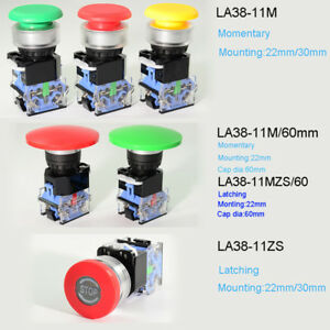 Power Start stop On off Round Momentary latching Push Button Switch 10a 22 30mm