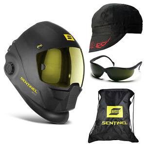 Esab Sentinel A50 Automatic Welding Helmet 5 0 Glasses Revco Cap bc5w bk