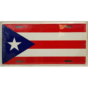 The Flag Of Puerto Rico Aluminum Novelty License Plate
