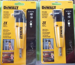 2 Dewalt Right Angle Attachment dwara50 1 4 In Shank New In Package