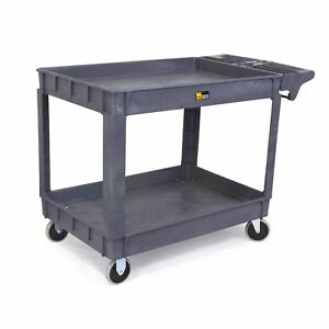 Wen Rolling Utility Service Cart Shop Garage Plastic Black Tool 500 Lbs Durable