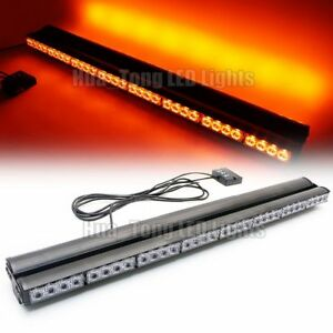 36 35 Led Amber Warning Traffic Advisor Emergency Double Side Strobe Light Bar