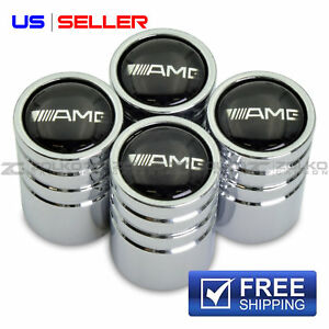 Amg Mercedes Benz Valve Stem Caps Wheel Tire Chrome Us Seller Ve22