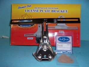 1938 1940 1941 1946 1948 Ford Car Rear License Plate Bracket Stainless Steel