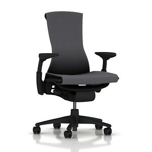 Herman Miller Embody Office Desk Chair Graphite Frame Charcoal Rhythm Textile