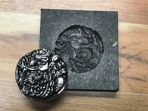 Elephant coin Graphite mold for Silver Gold Glass Ingot casting lamp works optic