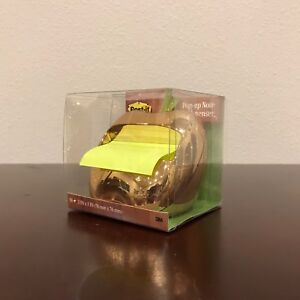 New Post it Golden Apple Pop up Note Dispenser With 3 x3 Post it Pop up Notes