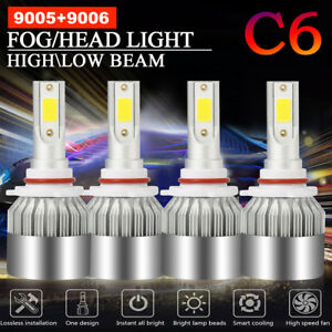 Combo 9005 9006 Total 3000w 450000lm Cree Led Headlight Hi Low Beam 6000k White
