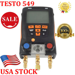 Testo 549 Refrigeration Digital Manifold 0560 0550 14 7 To 870 Psi Hvac New Usa