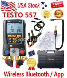 Testo 557 Refrigeration Digital Manifold Kit 0563 1557 Included Clamp Probe Us
